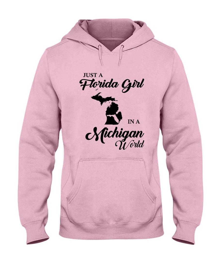 JUST A FLORIDA GIRL IN A MICHIGAN WORLD Hooded Sweatshirt
