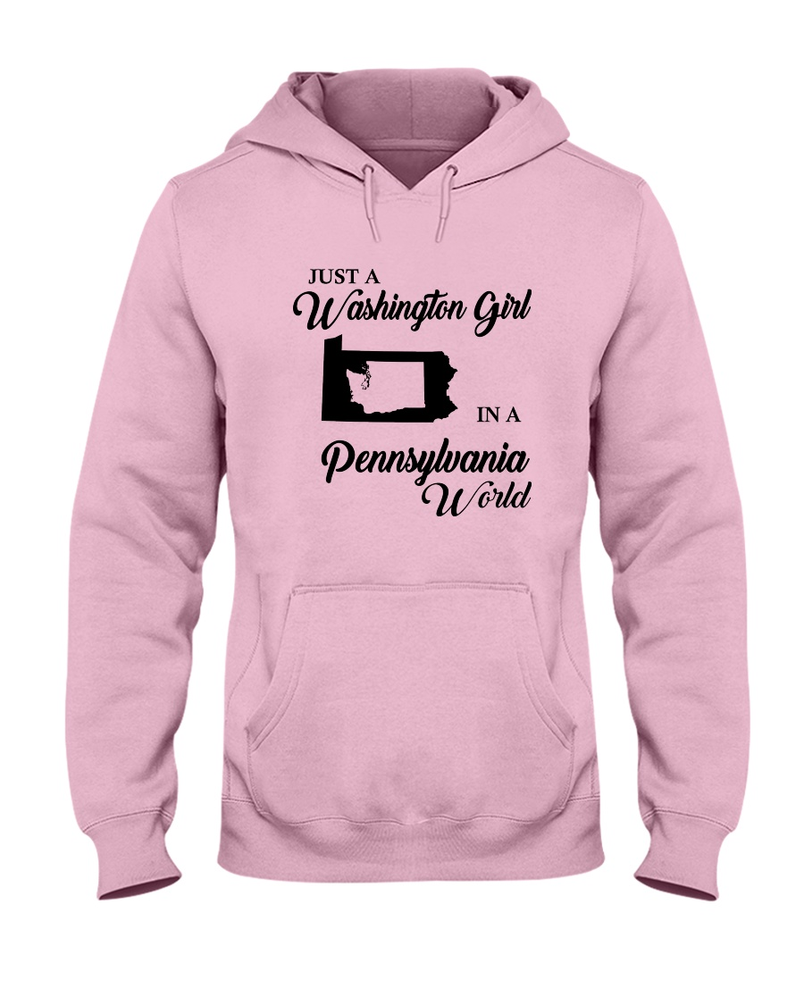 JUST A WASHINGTON GIRL IN A PENNSYLVANIA WORLD Hooded Sweatshirt