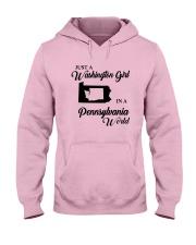 JUST A WASHINGTON GIRL IN A PENNSYLVANIA WORLD Hooded Sweatshirt front
