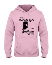 JUST A FLORIDA GIRL IN AN INDIANA WORLD Hooded Sweatshirt front
