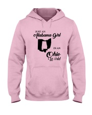 JUST AN ALABAMA GIRL IN AN OHIO WORLD Hooded Sweatshirt front