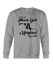 JUST AN ILLINOIS GIRL IN A MARYLAND WORLD Crewneck Sweatshirt tile
