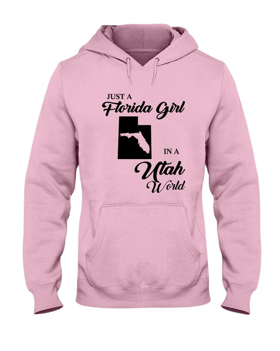 JUST A FLORIDA GIRL IN A UTAH WORLD Hooded Sweatshirt