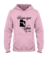 JUST A FLORIDA GIRL IN A UTAH WORLD Hooded Sweatshirt front