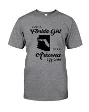 JUST A FLORIDA GIRL IN AN ARIZONA WORLD Classic T-Shirt thumbnail