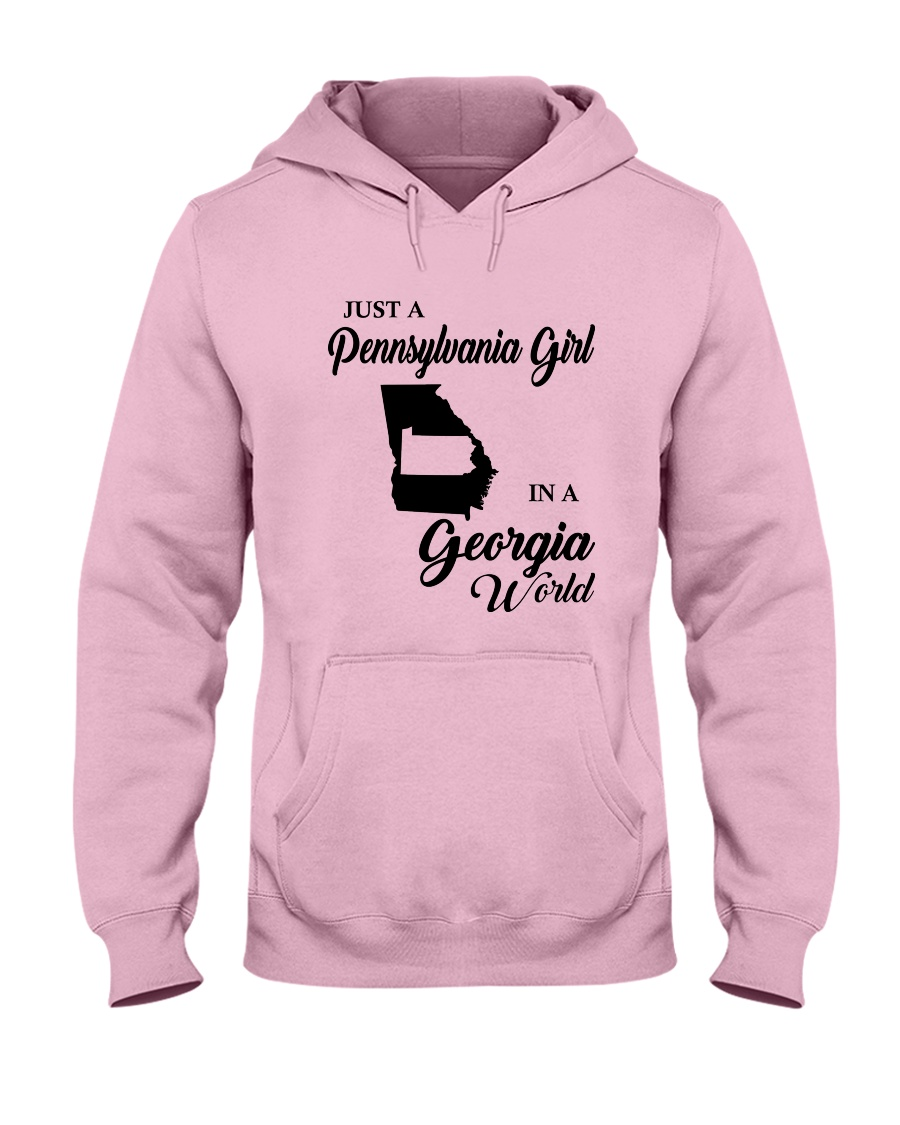 JUST A PENNSYLVANIA GIRL IN A GEORGIA WORLD Hooded Sweatshirt