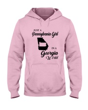 JUST A PENNSYLVANIA GIRL IN A GEORGIA WORLD Hooded Sweatshirt front