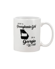 JUST A PENNSYLVANIA GIRL IN A GEORGIA WORLD Mug thumbnail