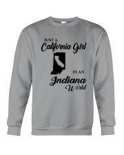 JUST A CALIFORNIA GIRL IN AN INDIANA WORLD Crewneck Sweatshirt thumbnail