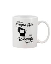 JUST AN OREGON GIRL IN A WISCONSIN WORLD Mug thumbnail