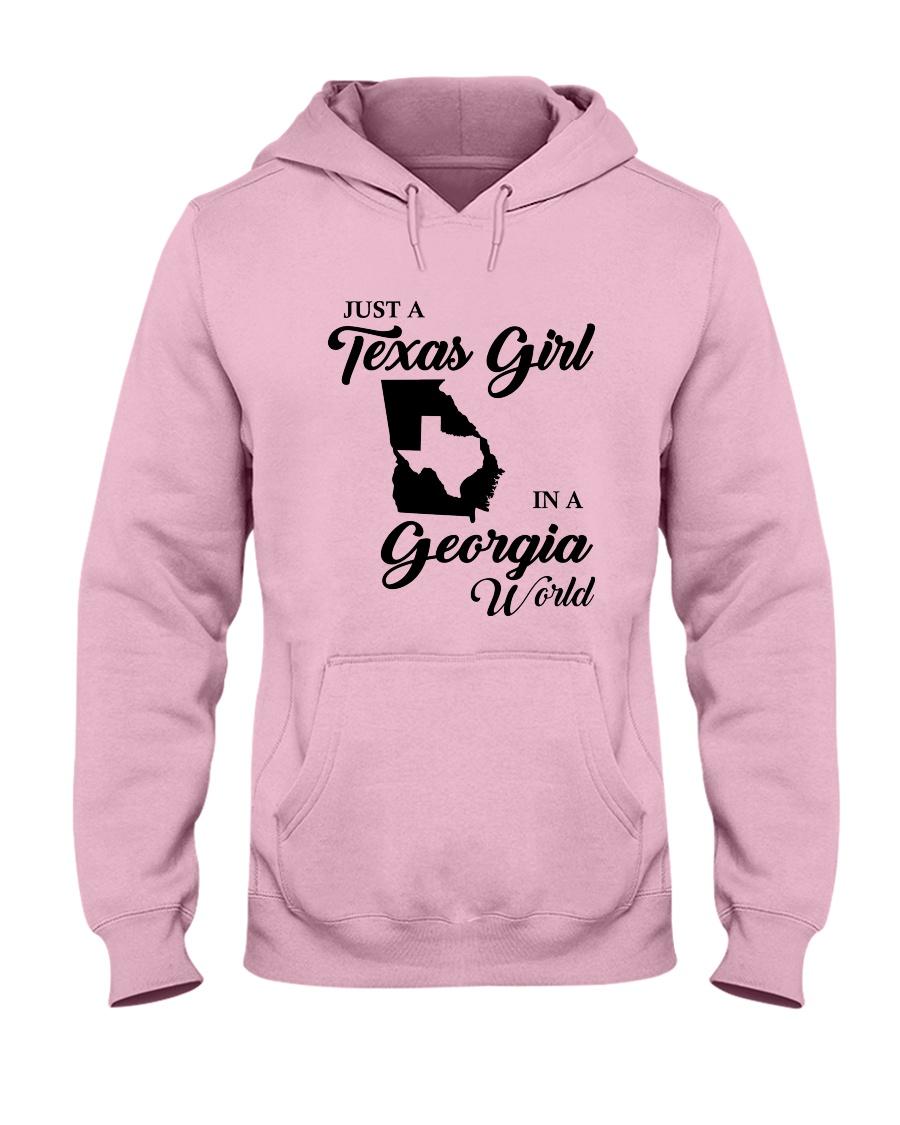 JUST A TEXAS GIRL IN A GEORGIA WORLD Hooded Sweatshirt