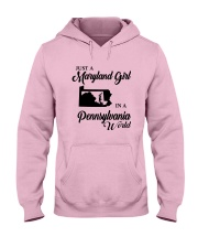 JUST A MARYLAND GIRL IN A PENNSYLVANIA WORLD Hooded Sweatshirt front