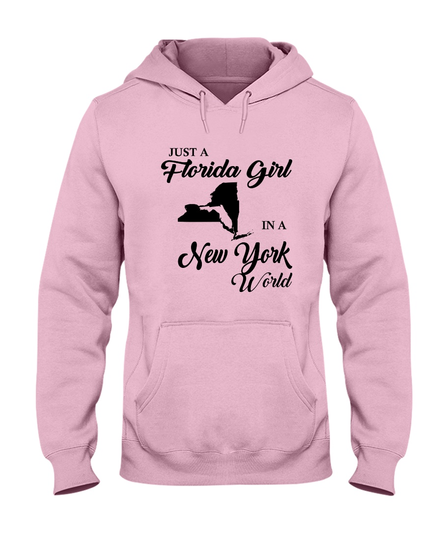 JUST A FLORIDA GIRL IN A NEW YORK WORLD Hooded Sweatshirt