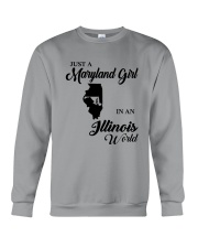 JUST A MARYLAND GIRL IN An ILLINOIS WORLD Crewneck Sweatshirt tile