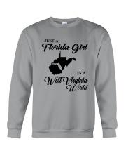 JUST A FLORIDA GIRL IN A WEST VIRGINIA WORLD Crewneck Sweatshirt thumbnail