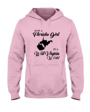 JUST A FLORIDA GIRL IN A WEST VIRGINIA WORLD Hooded Sweatshirt front