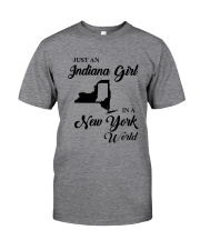 JUST AN INDIANA GIRL IN A NEW YORK WORLD Classic T-Shirt thumbnail