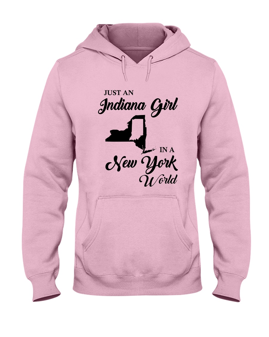 JUST AN INDIANA GIRL IN A NEW YORK WORLD Hooded Sweatshirt