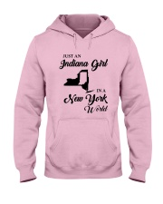 JUST AN INDIANA GIRL IN A NEW YORK WORLD Hooded Sweatshirt front