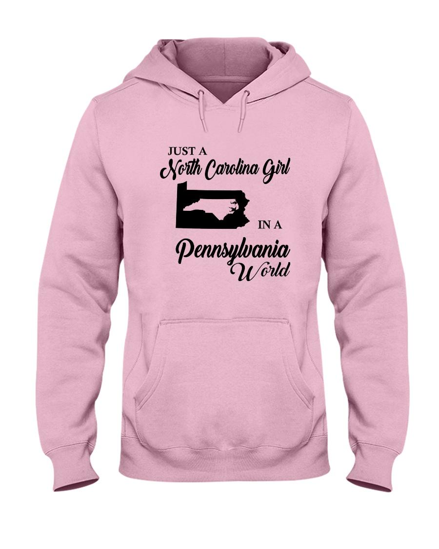 JUST A NORTH CAROLINA GIRL IN A PENNSYLVANIA WORLD Hooded Sweatshirt