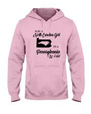 JUST A NORTH CAROLINA GIRL IN A PENNSYLVANIA WORLD Hooded Sweatshirt front