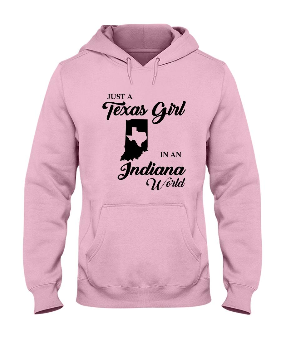 JUST A TEXAS GIRL IN AN INDIANA WORLD Hooded Sweatshirt