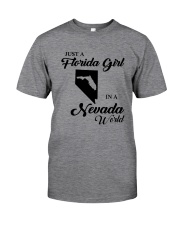 JUST A FLORIDA GIRL IN A NEVADA WORLD Classic T-Shirt thumbnail