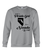 JUST A FLORIDA GIRL IN A NEVADA WORLD Crewneck Sweatshirt thumbnail