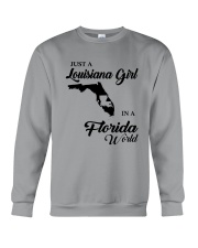 JUST A LOUISIANA GIRL IN A FLORIDA WORLD Crewneck Sweatshirt thumbnail