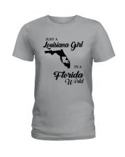 JUST A LOUISIANA GIRL IN A FLORIDA WORLD Ladies T-Shirt thumbnail