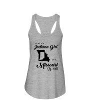 JUST AN INDIANA GIRL IN A MISSOURI WORLD Ladies Flowy Tank thumbnail