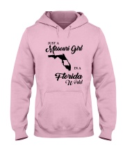 JUST A MISSOURI GIRL IN A FLORIDA WORLD Hooded Sweatshirt front