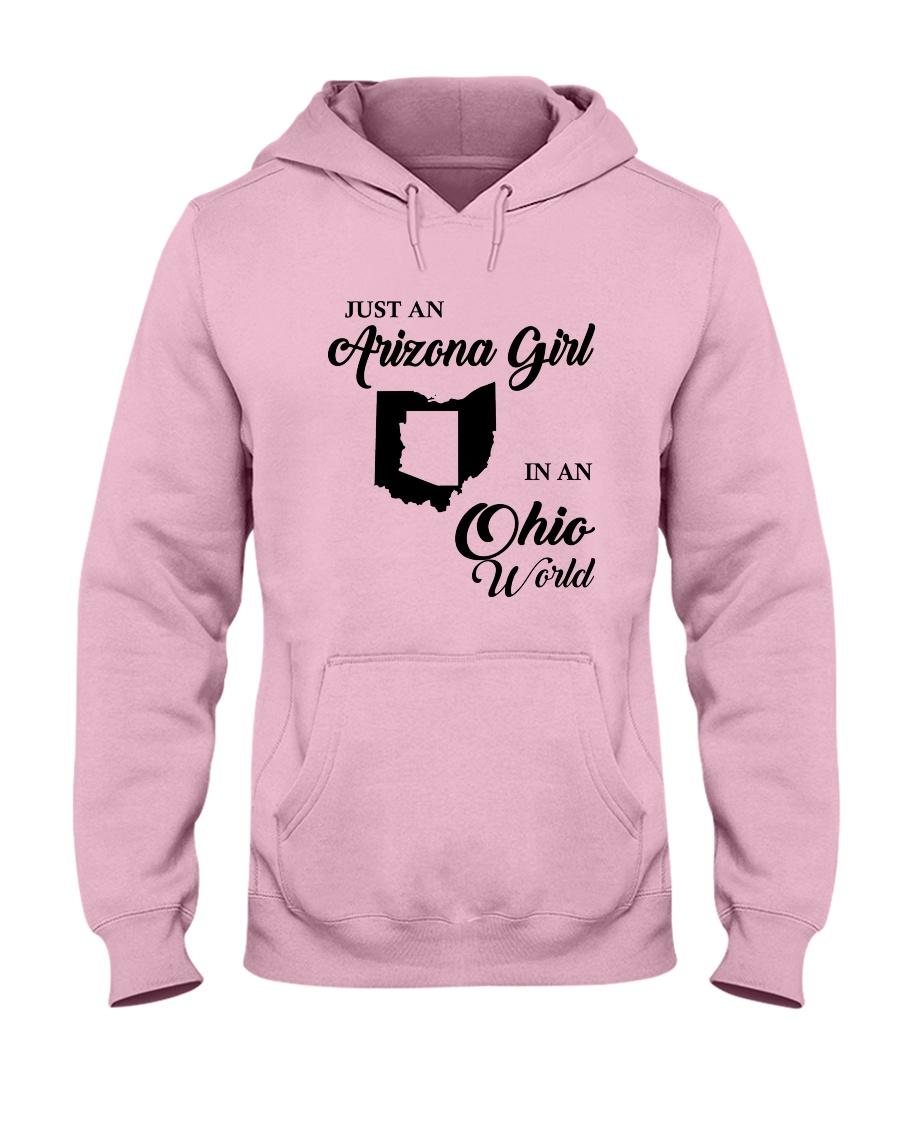 JUST AN ARIZONA GIRL IN AN OHIO WORLD Hooded Sweatshirt
