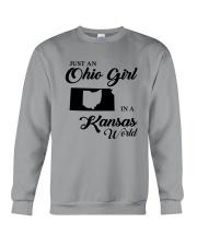 JUST An OHIO GIRL IN A KANSAS WORLD Crewneck Sweatshirt thumbnail