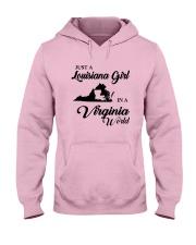 JUST A LOUISIANA GIRL IN A VIRGINIA WORLD Hooded Sweatshirt front