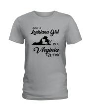 JUST A LOUISIANA GIRL IN A VIRGINIA WORLD Ladies T-Shirt thumbnail