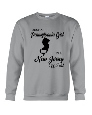 JUST A PENNSYLVANIA GIRL IN A NEW JERSEY WORLD Crewneck Sweatshirt thumbnail