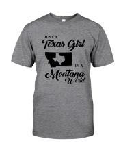 JUST A TEXAS GIRL IN A MONTANA WORLD Classic T-Shirt thumbnail
