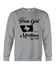 JUST A TEXAS GIRL IN A MONTANA WORLD Crewneck Sweatshirt thumbnail