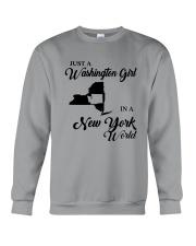 JUST A WASHINGTON GIRL IN A NEW YORK WORLD Crewneck Sweatshirt thumbnail