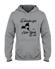 JUST A WASHINGTON GIRL IN A NEW YORK WORLD Hooded Sweatshirt tile