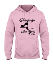JUST A WASHINGTON GIRL IN A NEW YORK WORLD Hooded Sweatshirt front