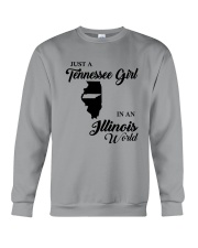 JUST A TENNESSEE GIRL IN AN ILLINOIS WORLD Crewneck Sweatshirt thumbnail