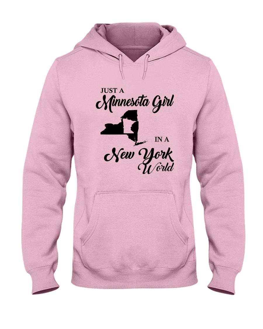 JUST A MINNESOTA GIRL IN A NEW YORK WORLD Hooded Sweatshirt
