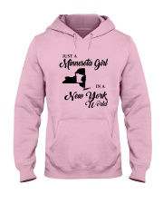 JUST A MINNESOTA GIRL IN A NEW YORK WORLD Hooded Sweatshirt front