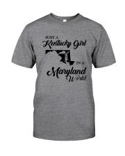 JUST A KENTUCKY GIRL IN A MARYLAND WORLD Classic T-Shirt thumbnail