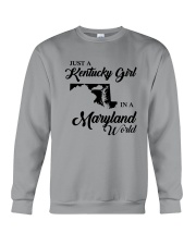 JUST A KENTUCKY GIRL IN A MARYLAND WORLD Crewneck Sweatshirt thumbnail