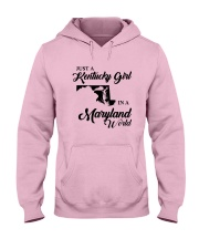 JUST A KENTUCKY GIRL IN A MARYLAND WORLD Hooded Sweatshirt front