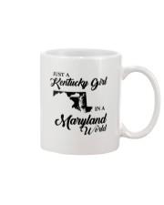 JUST A KENTUCKY GIRL IN A MARYLAND WORLD Mug thumbnail
