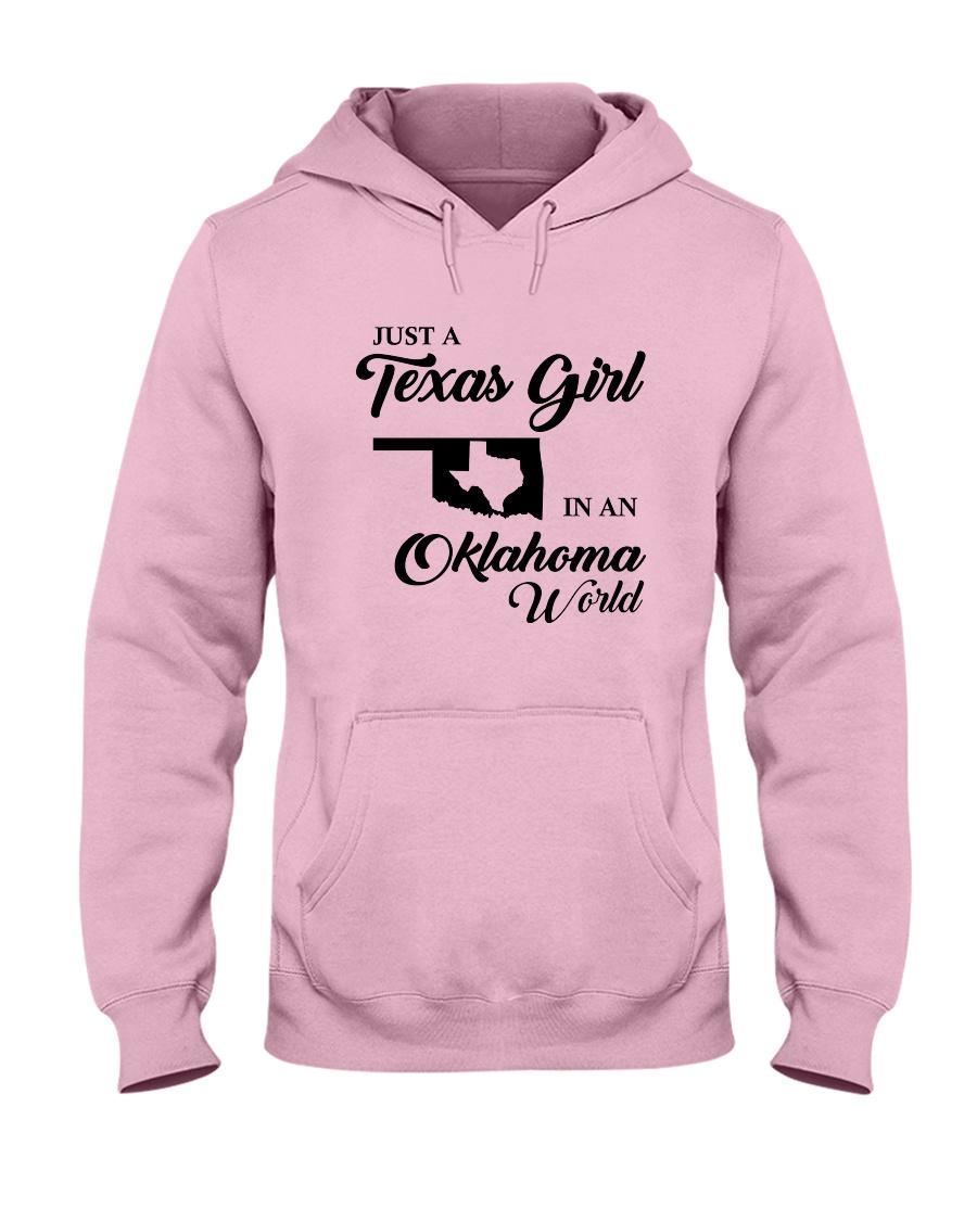 JUST A TEXAS GIRL IN AN OKLAHOMA WORLD Hooded Sweatshirt